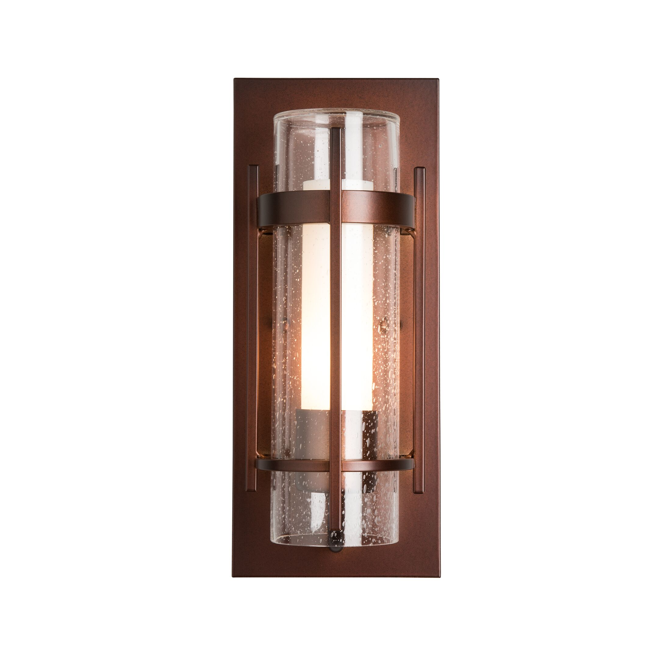 Thumbnail for Banded Seeded Glass Small Outdoor Sconce