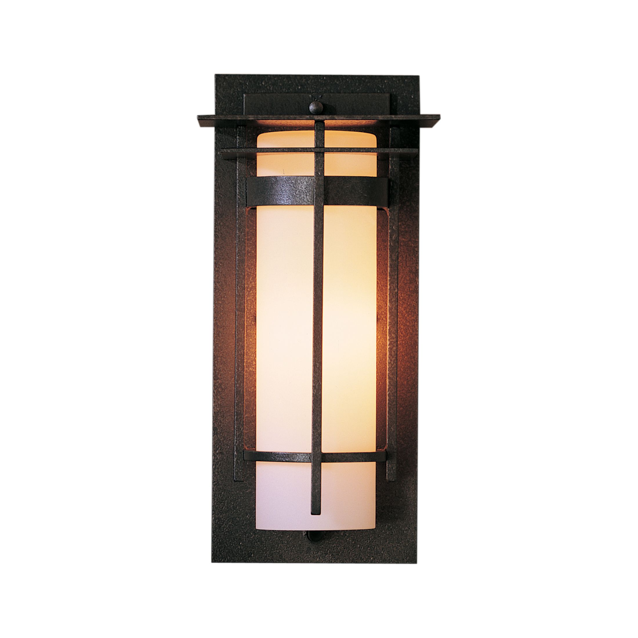 Product Detail: Banded with Top Plate Small Outdoor Sconce