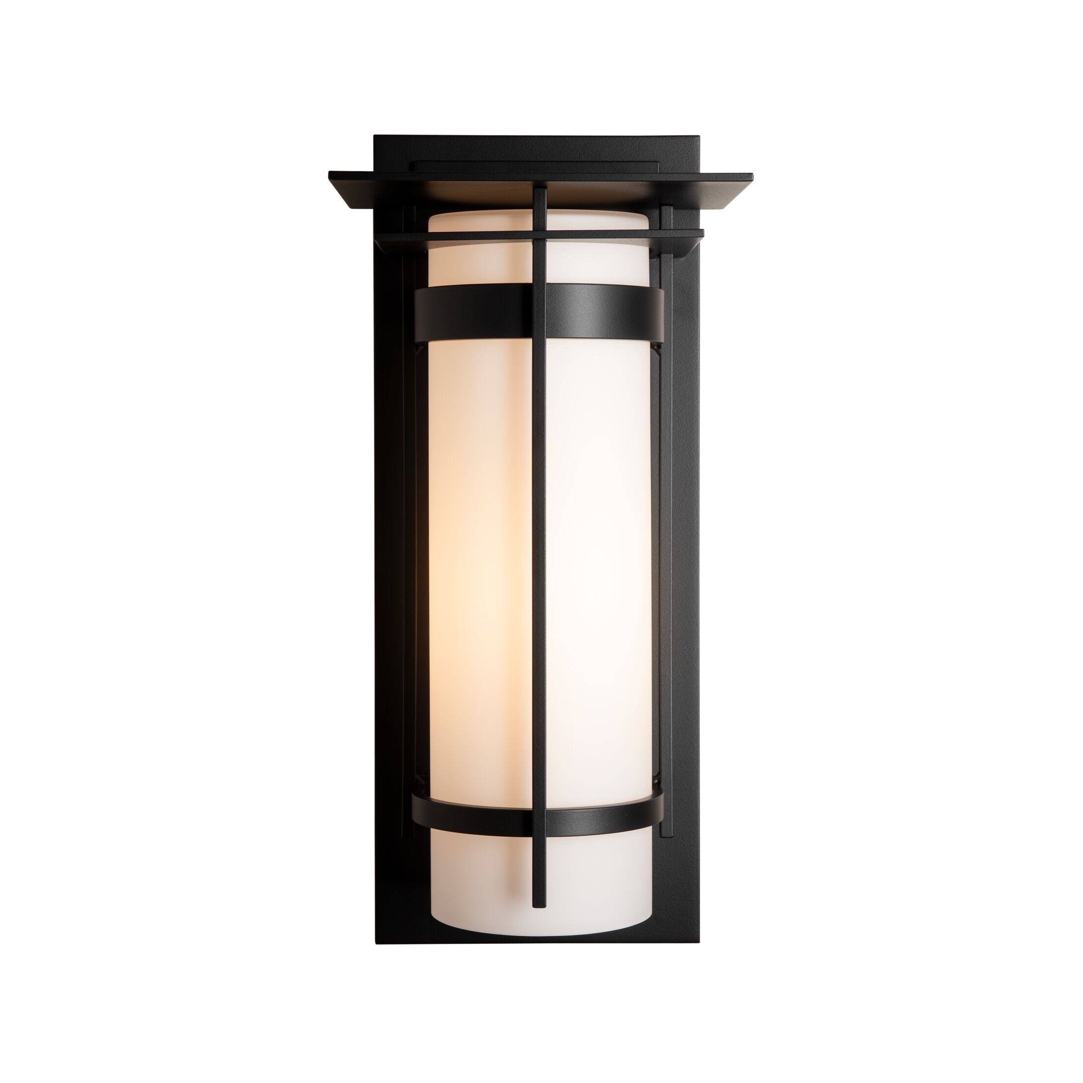 Product Detail: Banded with Top Plate Large Outdoor Sconce