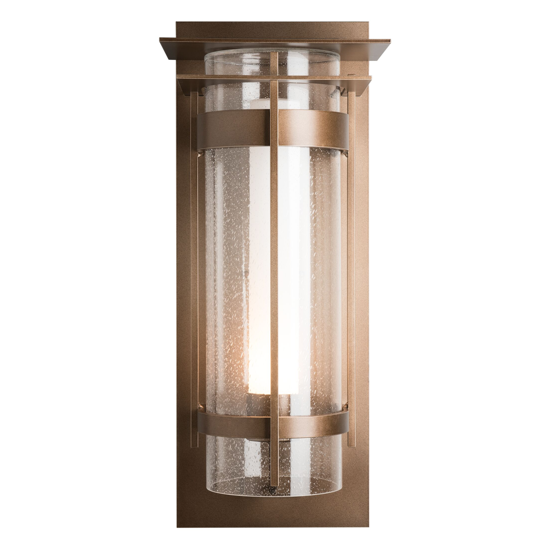 Thumbnail for Banded Seeded Glass XL Outdoor Sconce with Top Plate