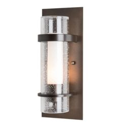 205814 Banded Seeded Glass Indoor Sconce