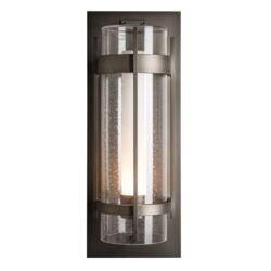 305899 Banded Seeded Glass XL Outdoor Sconce