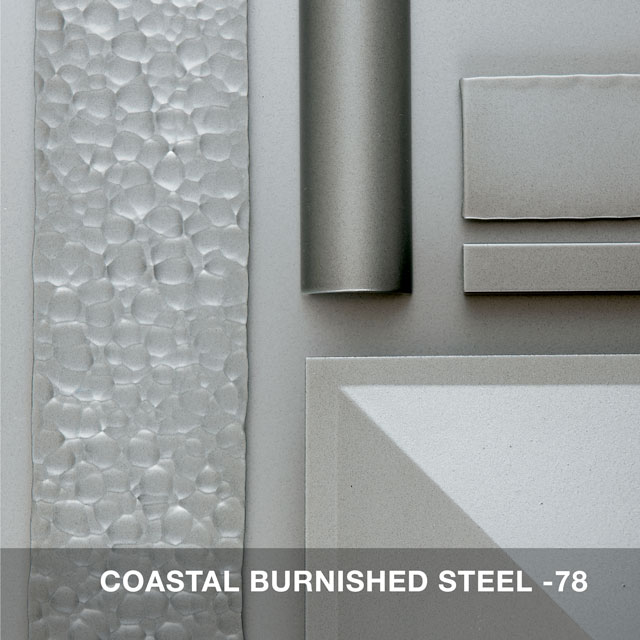 Coastal Burnished steel finish swatch 7