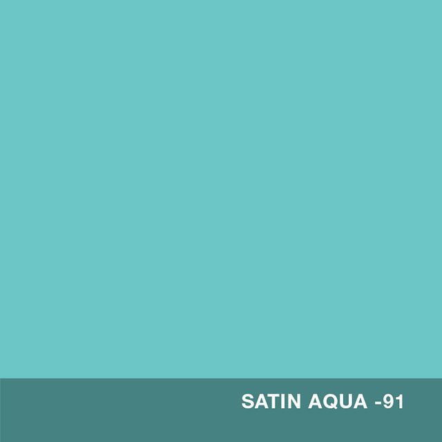 Satin Aqua finish swatch
