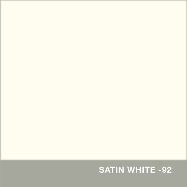 Satin White finish swatch