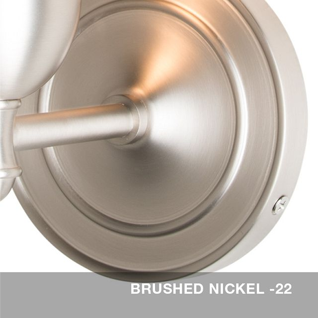 Brushed Nickel finish swatch