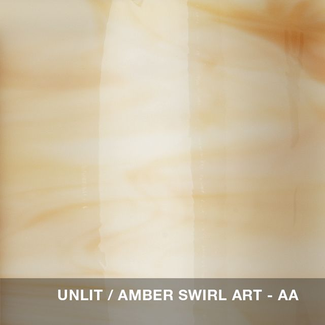 Unlit - Amber Swirl glass swatch