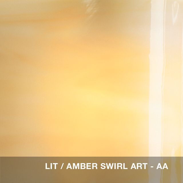 Lit - Amber Swirl glass swatch