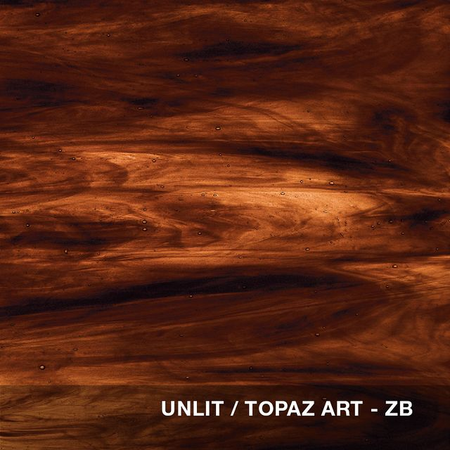 Unlit - Topaz Art glass swatch
