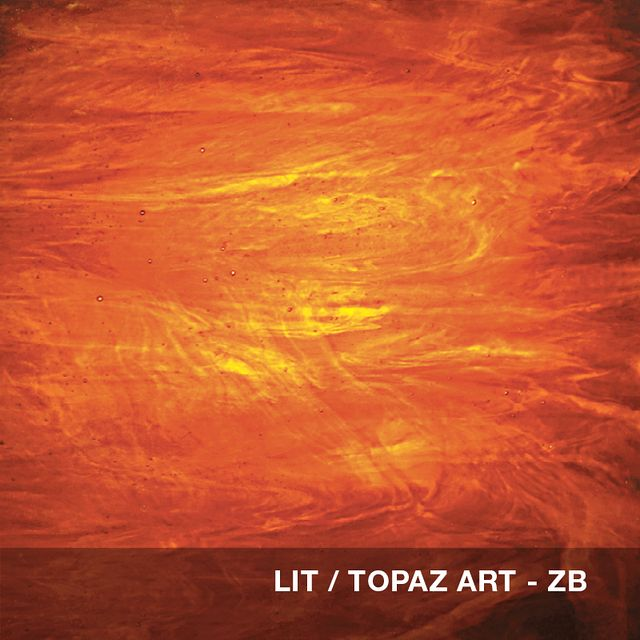 Lit - Topaz Art glass swatch