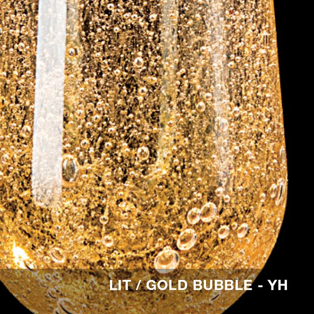 Lit - Gold Bubble glass swatch