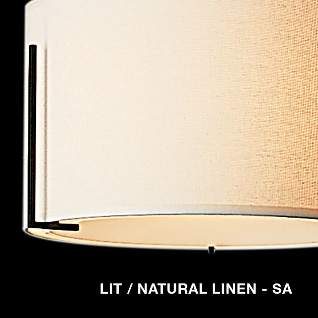 Lit - Natural Linen shade swatch